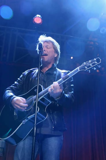 Musician Jon Bon Jovi performs onstage at the Food Bank For New York City's Can-Do Awards last month.