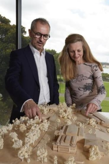 Art Gallery of New South Wales director Michael Brand and deputy director Anne Flanagan.