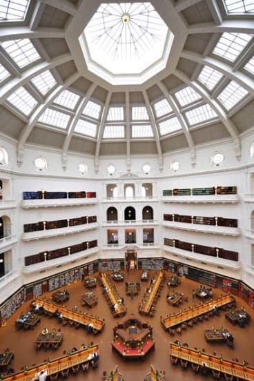 The La Trobe Reading Room in Melbourne's State Library is no longer the quiet haven for study it once was - it's a tourist attraction.