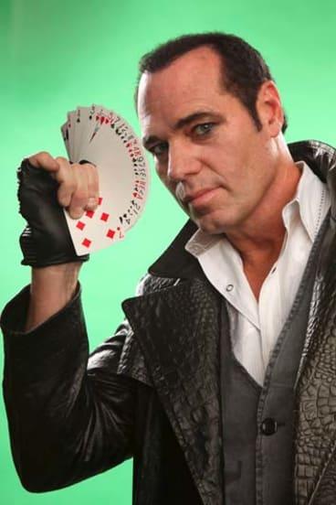 Drawcard ... magician Brett Daniels.