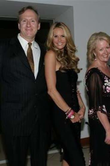 Happier times … Mary-Ellen Field's husband Bruce Westwood, Elle Macpherson, Field and Field's younger son Tim in San Diego in 2005.