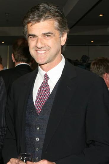 Harry Kewell's manager, Bernie Mandic, at a Socceroos function in 2008.