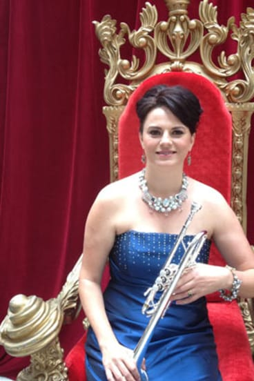 "Queensland Symphony Orchestra's ""Queen of Trumpets"" Sarah Wilson at the 2014 Season Launch in Brisbane."