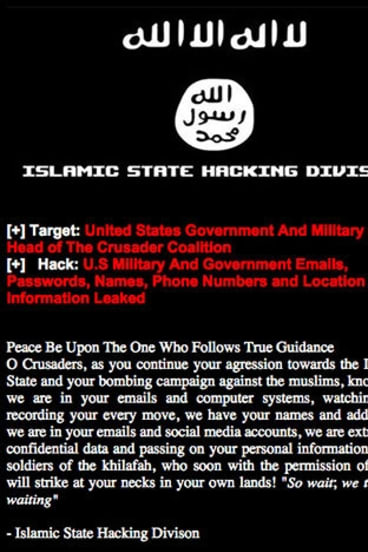 The harrowing warning from the Islamic State Hacking Division.