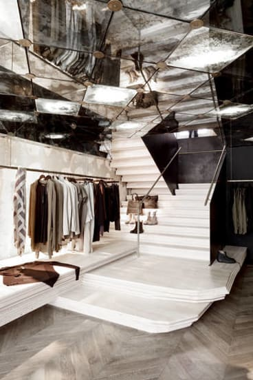 The Eggleston-designed Doma store in Paris.