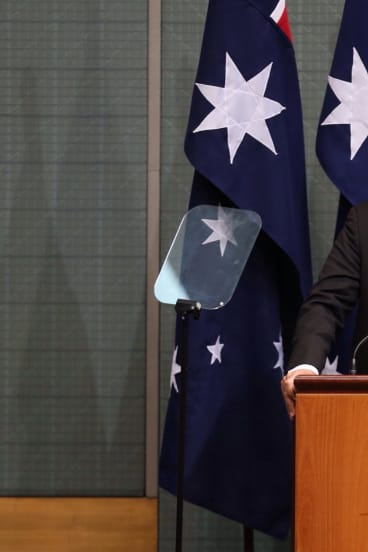 Indian Prime Minister Narendra Modi addresses the Australian Parliament on Tuesday.