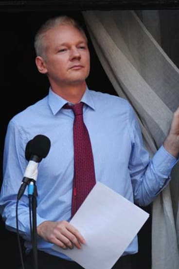 Vital middleman: WikiLeaks founder Julian Assange who is holed up in Ecuador's London embassy.