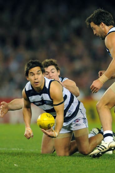 Stokes in action for the Cats during the 2009 season.