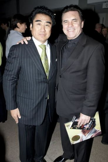 Haruhisa Handa with Lyndon Terracini.