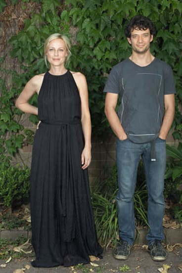 Actor Marta Dusseldorp and actor/director Ben Winspear.