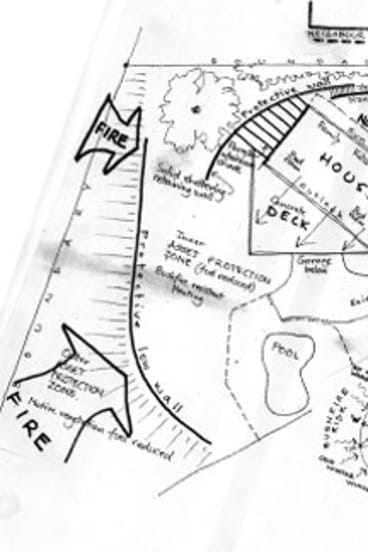 Nigel Bell's sketch of his plans for theproperty.