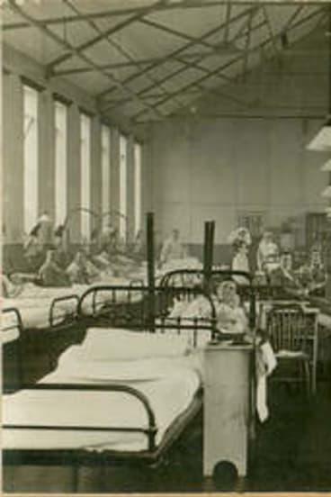 The fallen: Queen Alexandra Hospital in 1919.