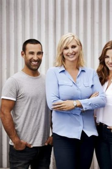 <i>Better Homes And Gardens</i> has new presentersAdam Dovile and Demi Harmanjoining host Johanna Griggs (centre).