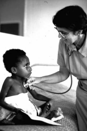 Turned to medicine: Kath Donovan at work.