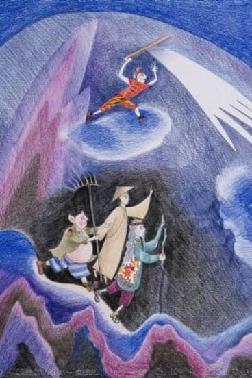A drawing by Kim Carpenter promoting Monkey: Journey to the West.