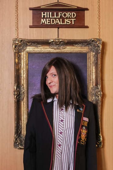 Chris Lilley as Ja'mie in <i>Ja'mie: Private School Girl</i>.