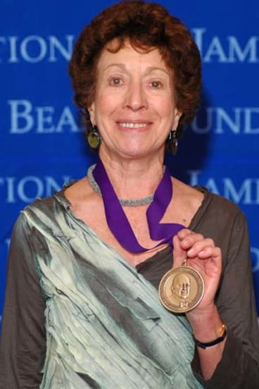 Honoured ... Jill Norman with the James Beard award.