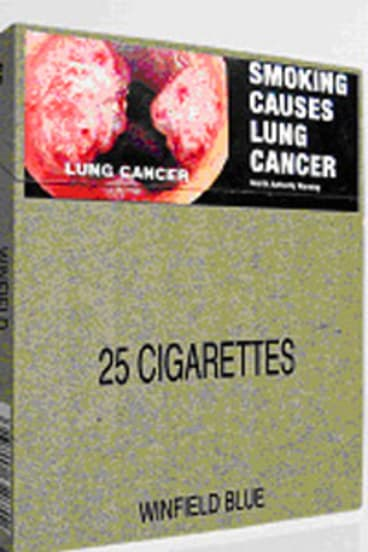 How the generic pack of cigarettes will look.