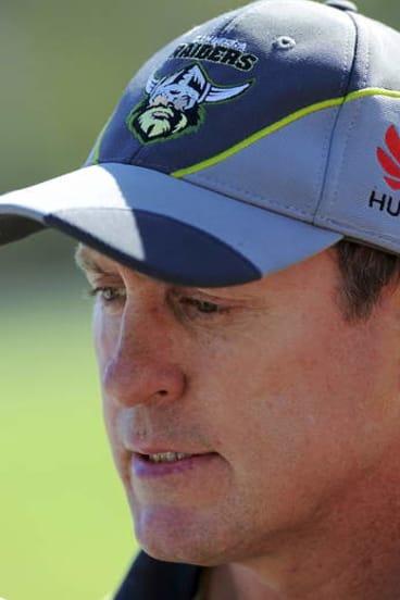 Canberra Raiders head coach, David Furner.