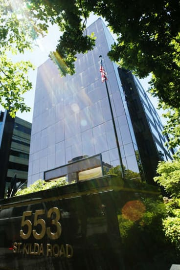 553 St Kilda Road, part-tenanted to the US consulate.