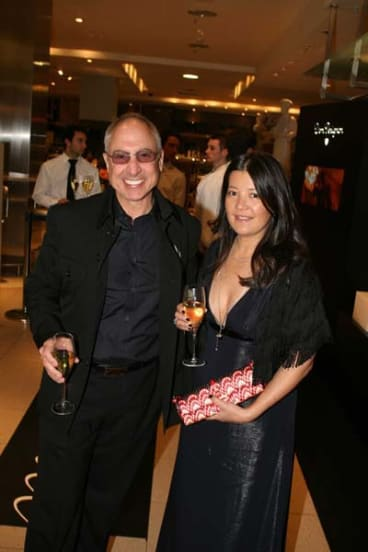 Together  after a fashion ... Lisa Ho and Philip Smouha.