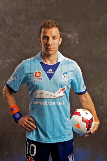 Picture of determination: Alessandro Del Piero at yesterday's season launch.