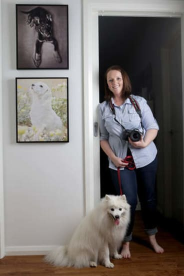 Snap decision: pet photographer Kerry Martin resigned from the navy after 16 years' service.