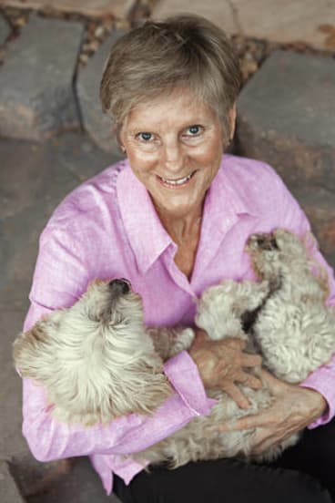 No surprises … humanitarian worker Paula Thomson and dog Ernie.