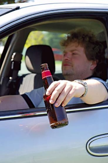 Open alcohol in car vic