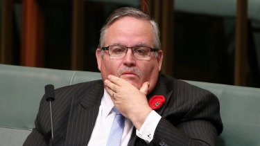 Deputy government ship Ewen Jones during question time on Tuesday.