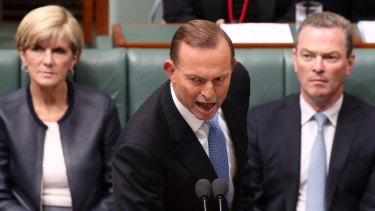 Prime Minister Tony Abbott during Question Time on Thursday.
