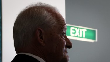 Liberal MP Philip Ruddock at a doorstop interview on Monday.