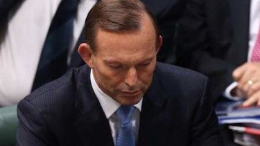 Prime Minister Tony Abbott after his national security statement on Monday. Photo: Andrew Meares