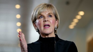Julie Bishop said she would have trouble working with anyone involved in an attempt to undermine the Australian government.