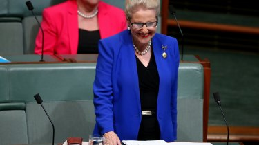Bronwyn Bishop in the House of Representatives on Wednesday.
