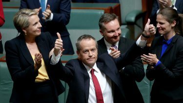 Opposition Leader Bill Shorten after delivering the budget reply speech on Thursday.