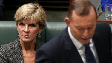Foreign Affairs Minister Julie Bishop during question time on Tuesday.