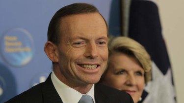 Opposition Leader Tony Abbott makes a statement following the ALP leadership ballot