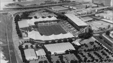 The 1993 plan for Lang Park redevelopment.