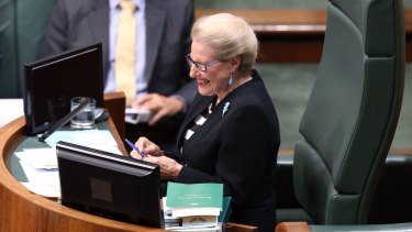 Speaker Bronwyn Bishop during question time on Thursday.