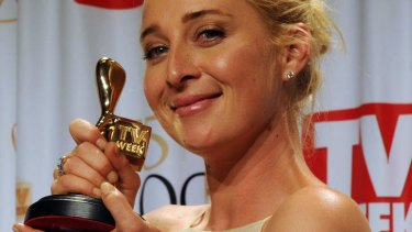 Golden girl ... Asher Keddie wins the ultimate prize, the Gold Logie.
