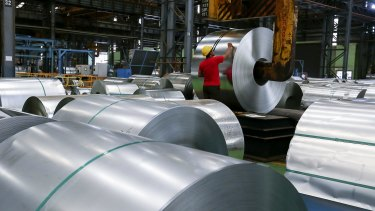 Demand for steel is falling.