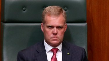 Speaker Tony Smith during question time on Tuesday.