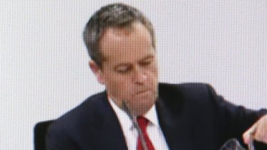 Opposition Leader Bill Shorten. Image from Royal Commission video feed