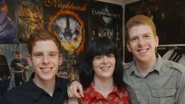 Nixon triplets (left to right) Simon, Rachel and Liam.