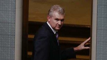 Manger of Opposition Business Tony Burke leaves the House of Representatives. Photo: Alex Ellinghausen