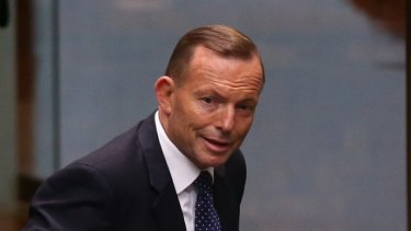 Prime Minister Tony Abbott departs question time  on Tuesday.