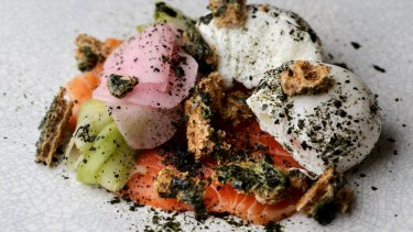 The miso-cured salmon served at  Archie's All Day Cafe and Bar in Fitzroy