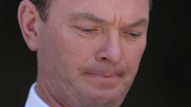 Education Minister Christopher Pyne addresses the media during a press conference on December 2. Photo: Alex Ellinghausen