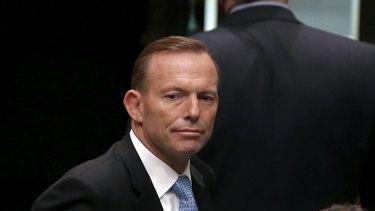 Prime Minister Tony Abbott departs Question Time on Thursday.